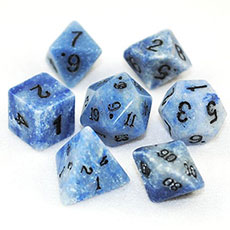 Blue Jasper Stone Dice Set