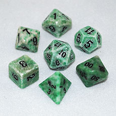 Jade Dice Set