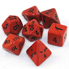 Red Jasper Stone Dice Set
